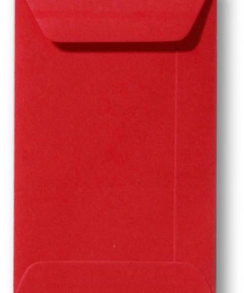 Envelop Koraal rood 6