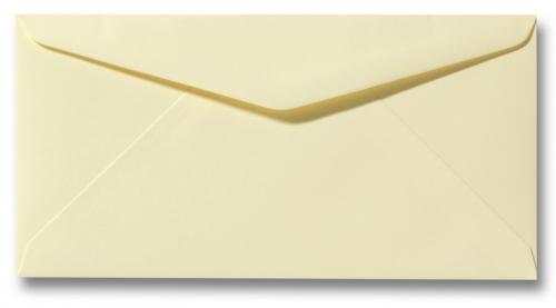 DL envelop 11×22 cm Zacht Geel