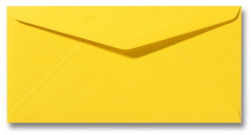 DL envelop 11×22 cm Boterbloem geel