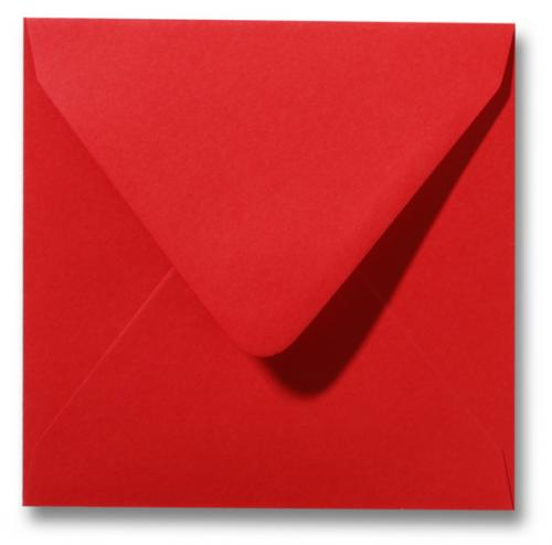 Envelop Rozenrood 12x12cm