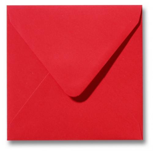 Envelop Koraal rood 12x12cm