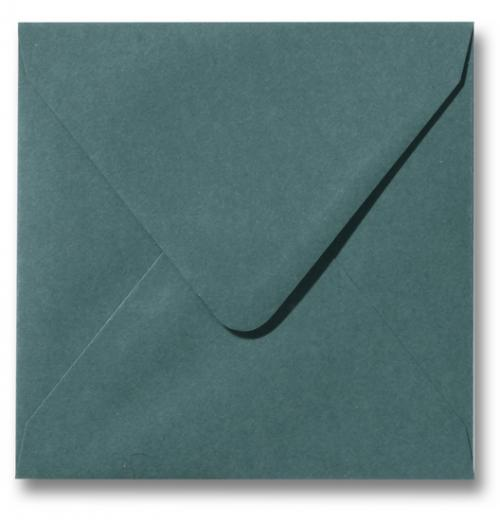 Envelop Donkergroen 12x12cm