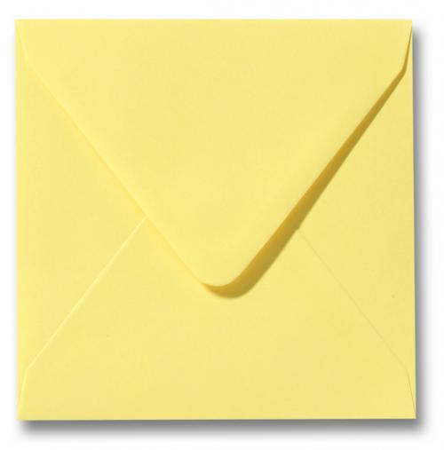 Envelop Kanarie geel 16x16cm