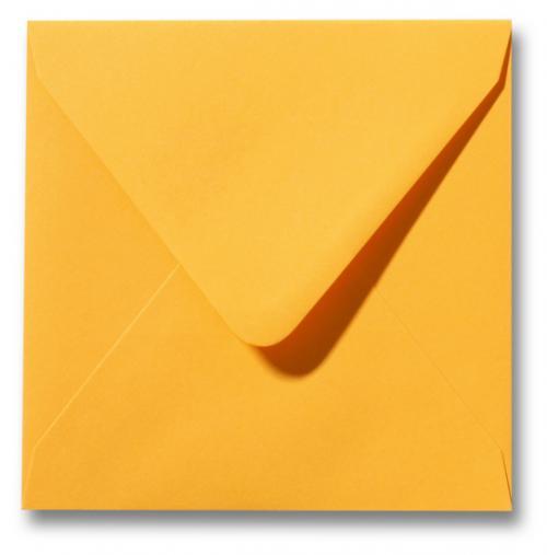 Envelop Goudgeel 16x16cm