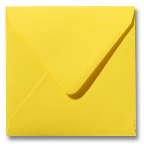 Envelop Boterbloem geel 16x16cm