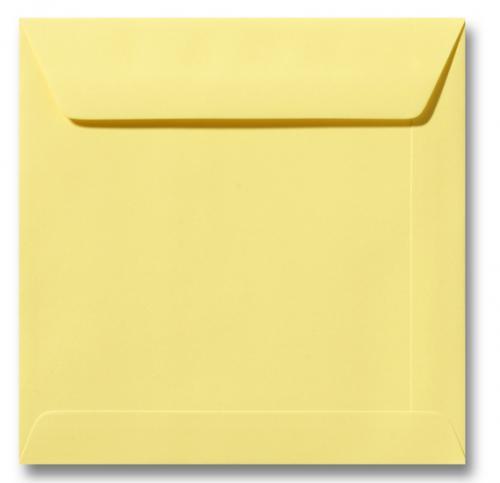 Envelop Kanarie geel 17x17cm