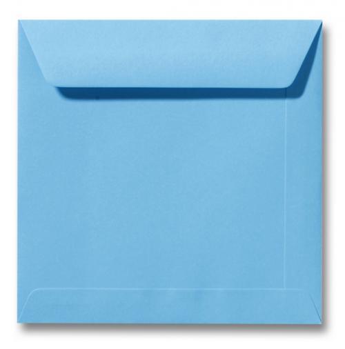 Envelop Oceaan blauw 17x17cm