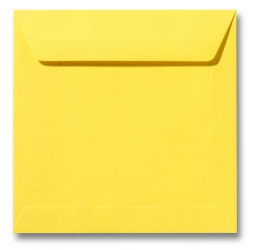 Envelop Boterbloem geel 17x17cm