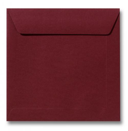 Envelop Donkerrood 17x17cm
