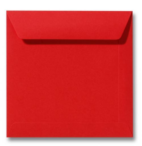 Envelop Koraal rood 19x19cm