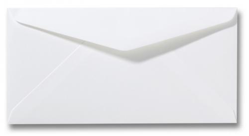 Witte envelop Natuurwit 10x19 cm