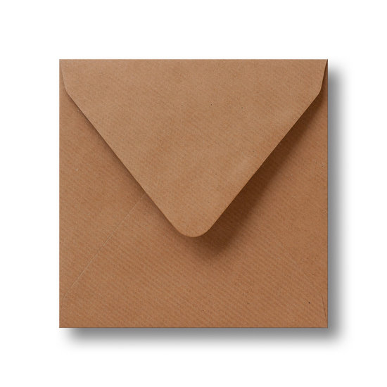 Kraft enveloppen bruin 12×12 cm