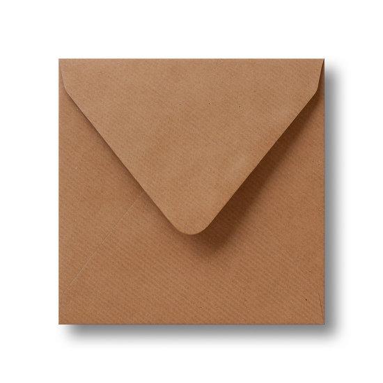 Kraft enveloppen bruin 16×16 cm