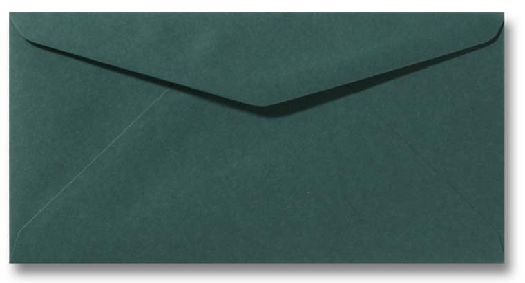 DL envelop 11x22 cm Donkergroen