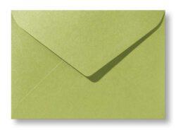 A5 envelop Metallic Olijf Groen 15,6×22 cm