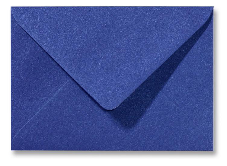 A5 envelop Metallic Blauw 15,6×22 cm