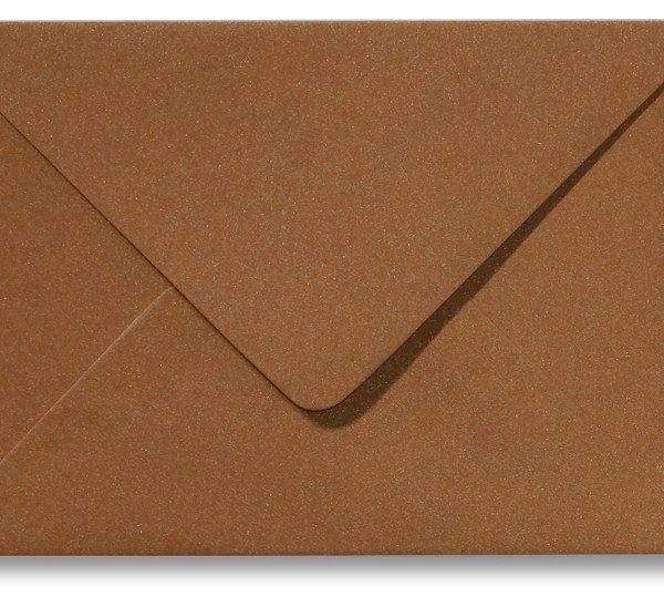 A5 envelop Metallic Brons