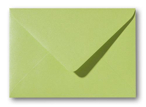 A5 envelop Metallic Groen