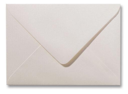 A5 envelop Metallic Ivoor 15,6×22 cm
