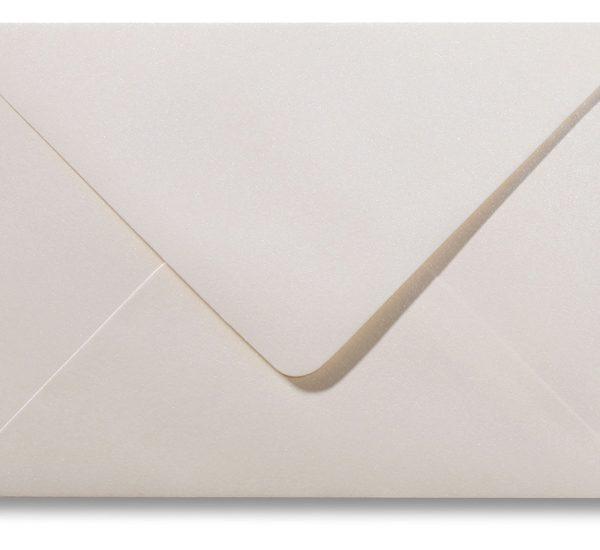 A5 envelop Metallic Ivoor