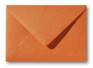 A5 envelop Metallic Oranje 15,6×22 cm