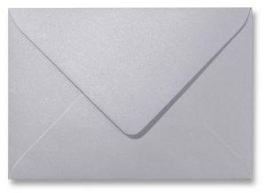 A5 envelop Metallic Platinum 15,6×22 cm