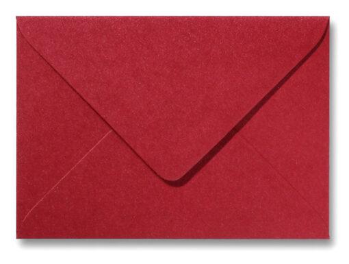 A5 envelop Metallic Rood 15,6×22 cm