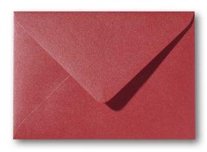 A5 envelop Metallic Rosso 15,6×22 cm