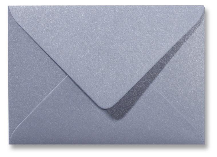 A5 envelop Metallic Zilver 15,6×22 cm