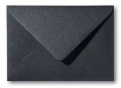 A5 envelop Metallic Zwart 15,6×22 cm