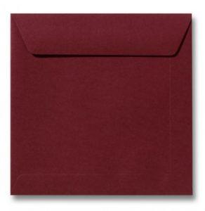 Envelop Donkerrood 22x22cm