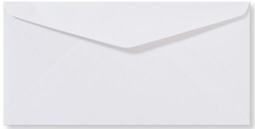DL Envelop 11x22 cm Metallic Wit