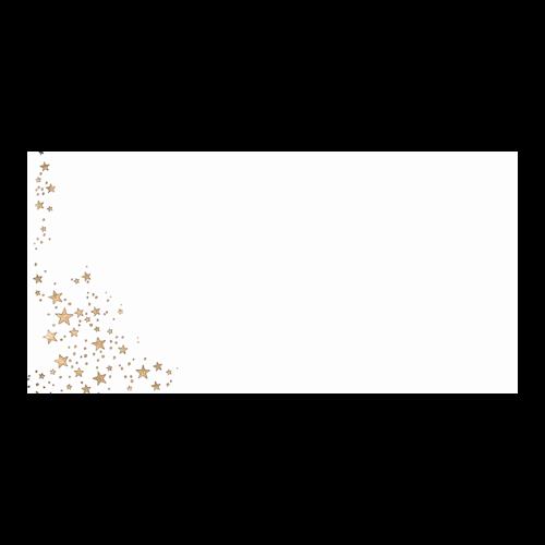 Kerst Envelop Gouden Sterren 11x22 cm