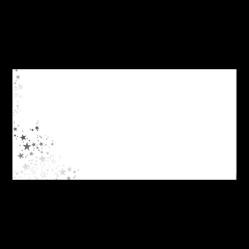 Kerst Envelop Zilveren Sterren 11x22 cm