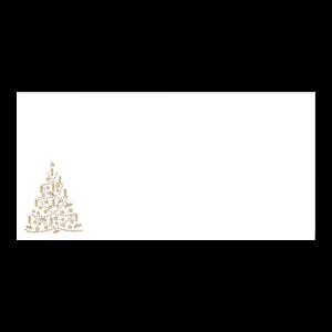 Kerst Envelop Gouden Dennenboom 11x22 cm