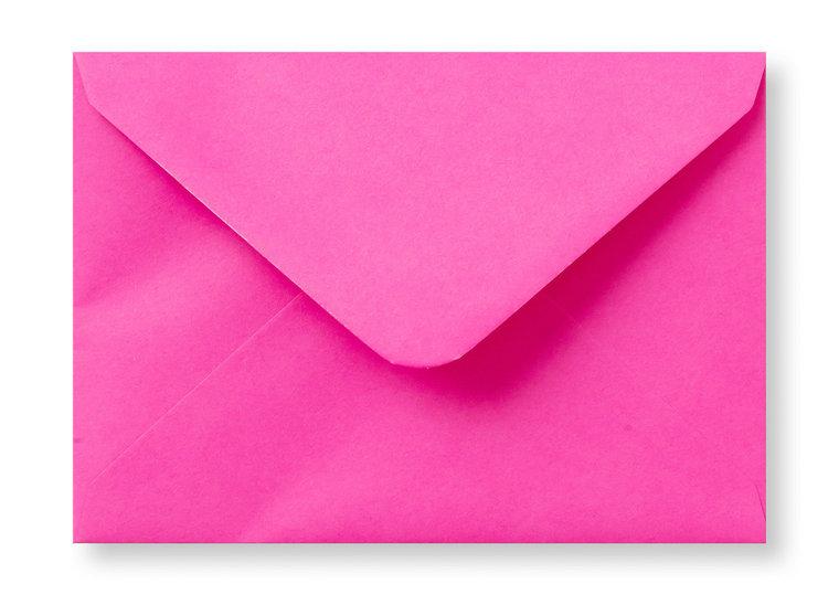 A6 Envelop Knal Roze 11x15,6 cm