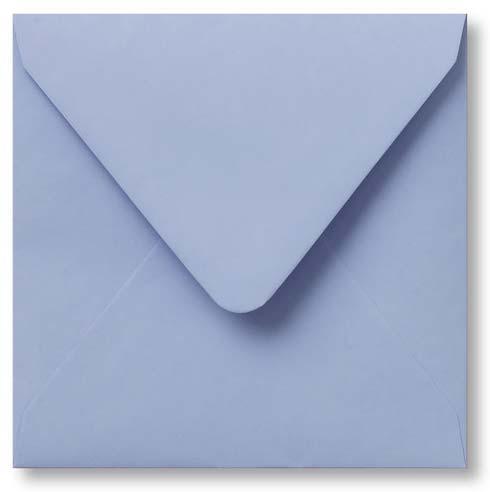Envelop Baby blauw 14x14cm