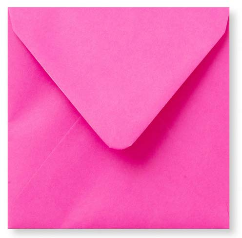 Envelop Knal Roze 12x12cm