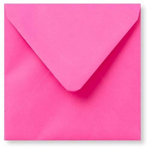 Envelop Knal Roze 14x14cm