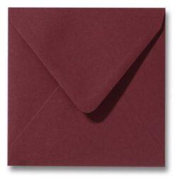 Envelop Donkerrood 14x14cm