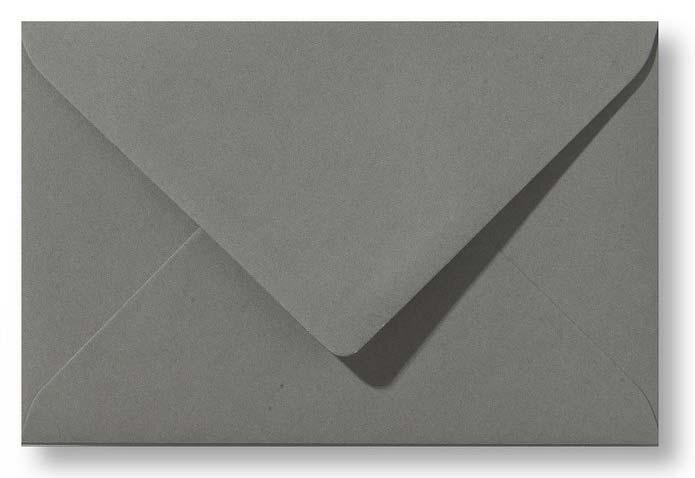 A6 Envelop Donkergrijs