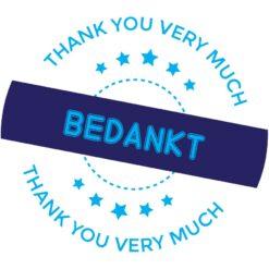 Sluitzegel Bedankt met thank you very much