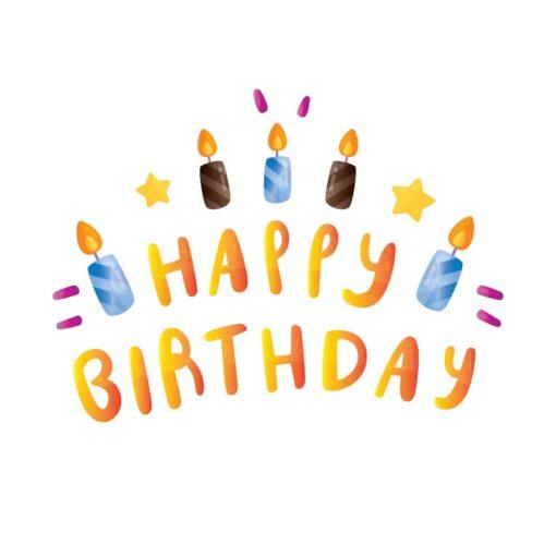 Sluitzegel Happy birthday kaarsjes