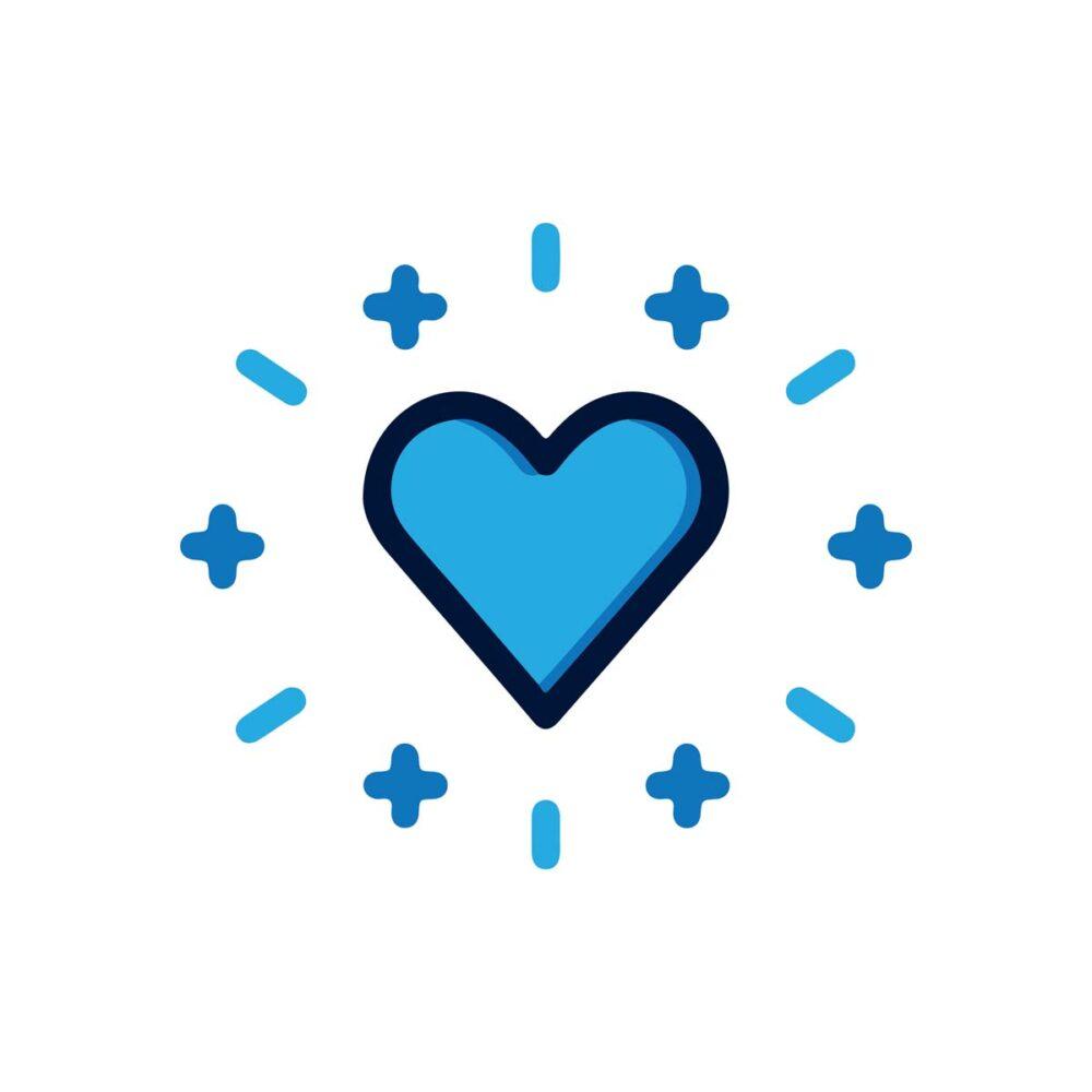 Sluitzegel Hartje blauw