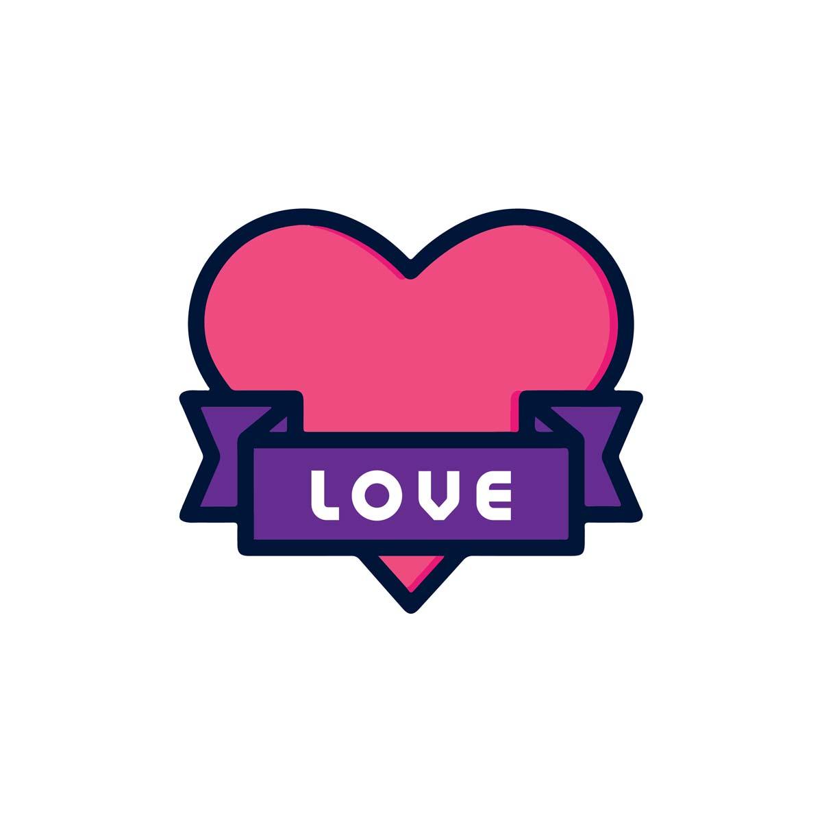 Sluitzegel Hartje met love