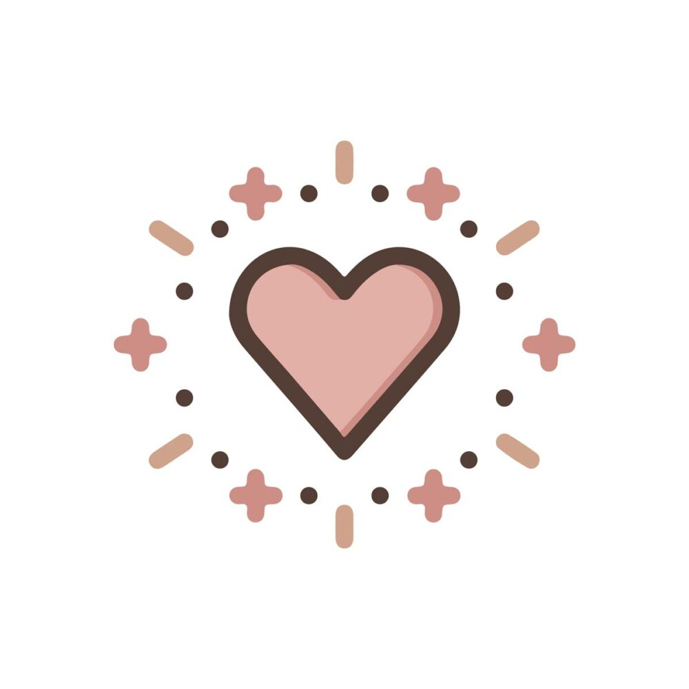 Sluitzegel Hartje roze & bruin