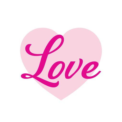 Sluitzegel Love met roze hartje