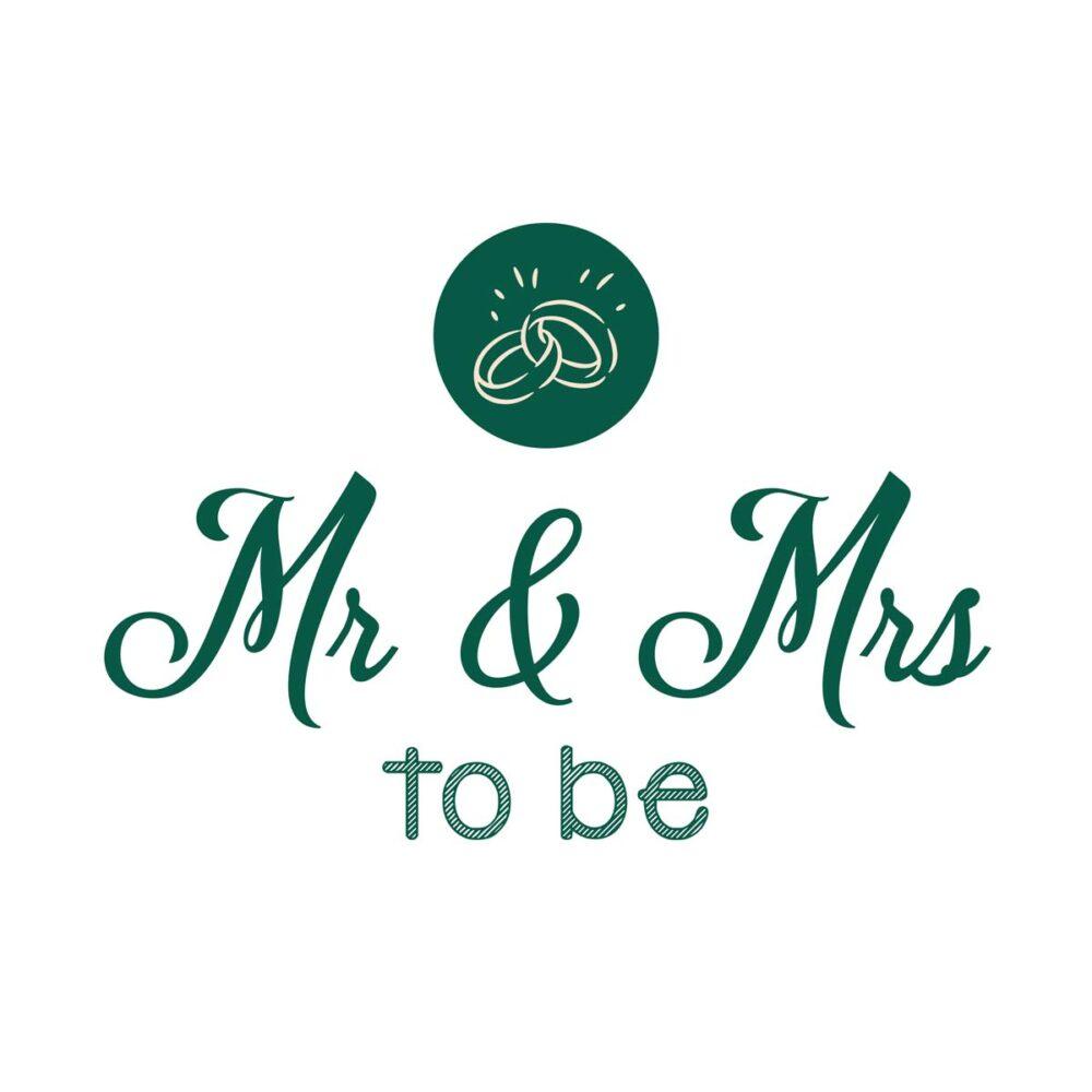 Sluitzegel Mr & Mrs to be groen