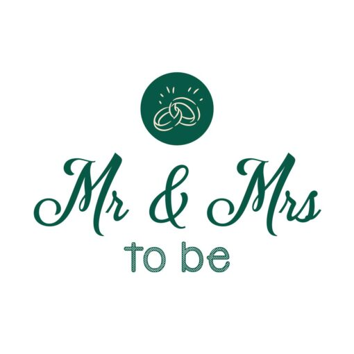 Sluitzegel Mr & Mrs to be groen