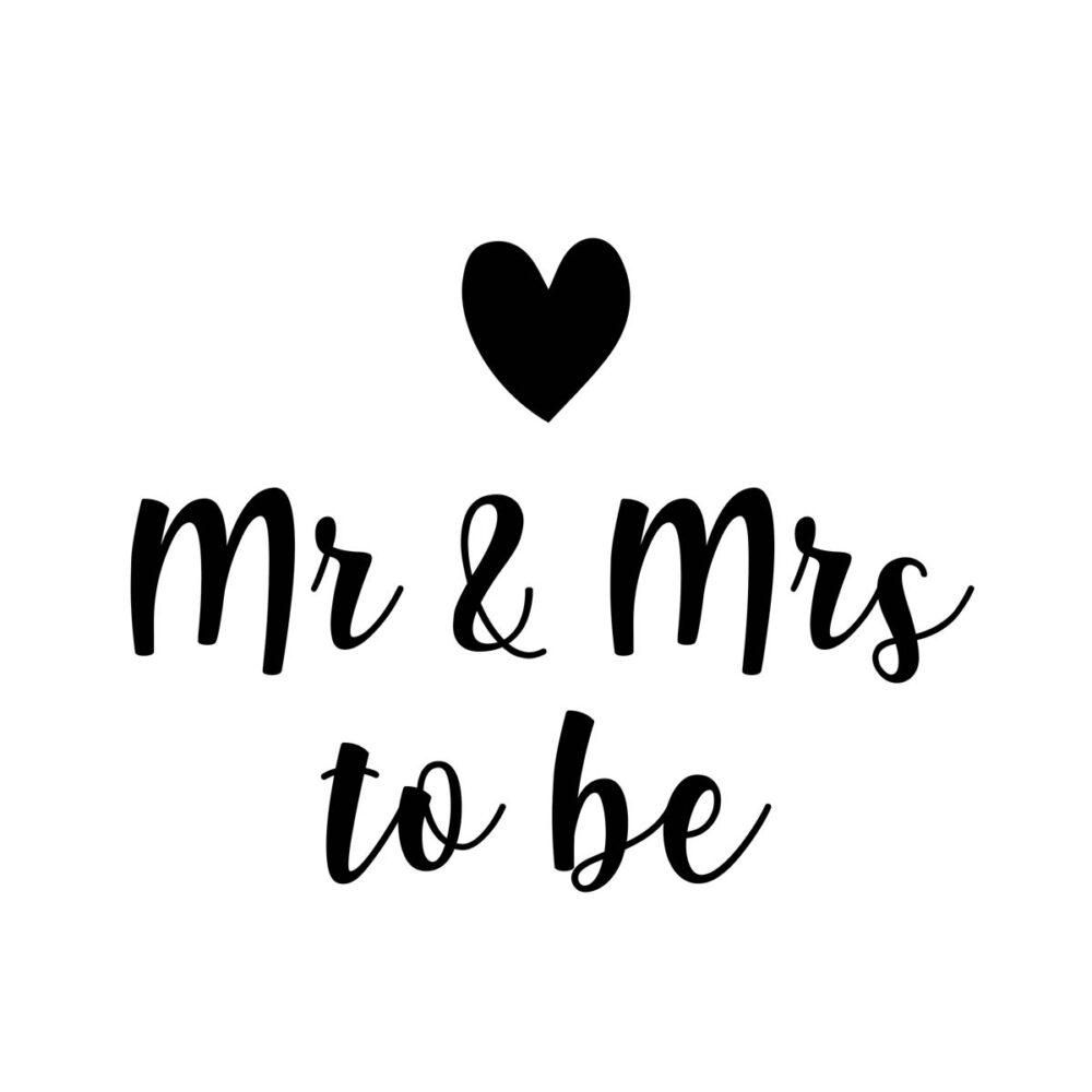 Sluitzegel Mr & Mrs to be zwart